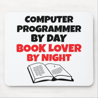 Book Lover Computer Programmer Mouse Pad