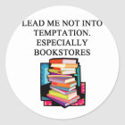 BOOK lover design Classic Round Sticker