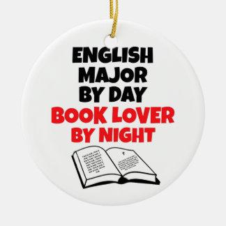 Book Lover English Major Ceramic Ornament
