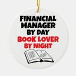 Book Lover Financial Manager Double-Sided Ceramic Round Christmas Ornament