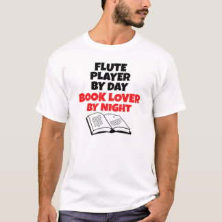 Book Lover Flute Player T-Shirt