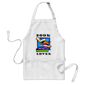 """Book Lover"" - Flying books & pages for reading Apron"
