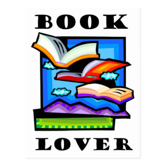 """Book Lover"" - Flying books & pages for reading Postcard"