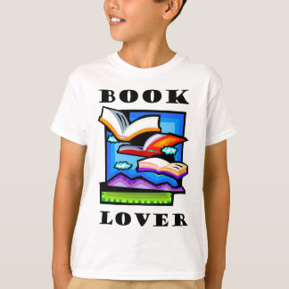 """""""Book Lover"""" - Flying books & pages for reading T-Shirt"""