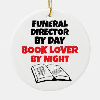 Book Lover Funeral Director Ceramic Ornament