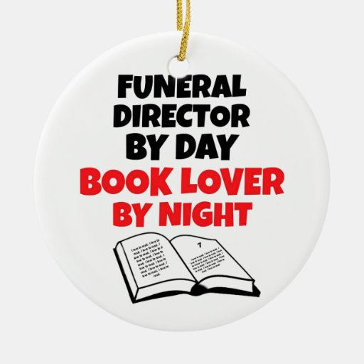 Book Lover Funeral Director Christmas Ornament