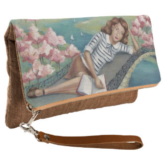 Book Lover Girl Art Clutch