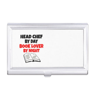 Book Lover Head Chef Case For Business Cards