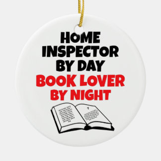 Book Lover Home Inspector Ceramic Ornament