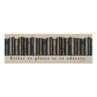 Book Lover Horace Quote Old Books Poster