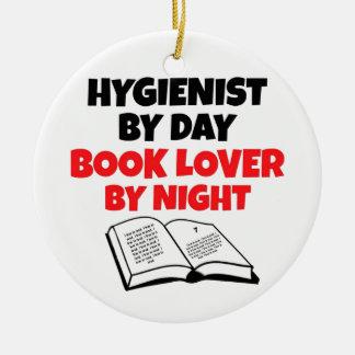 Book Lover Hygienist Ceramic Ornament