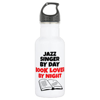 Book Lover Jazz Singer Water Bottle