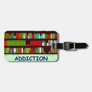 book lover luggage tag
