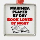 Book Lover Marimba Player Metal Ornament