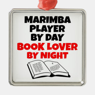 Book Lover Marimba Player Metal Ornament