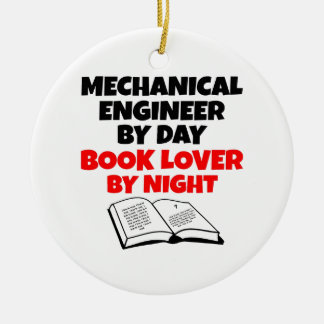 Book Lover Mechanical Engineer Ornaments