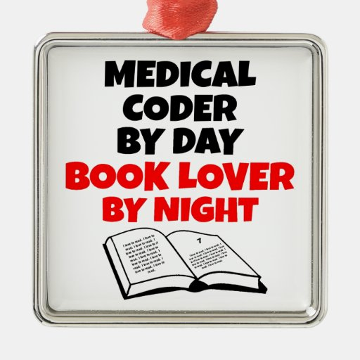 Book Lover Medical Coder Christmas Tree Ornament