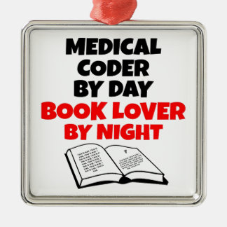 Book Lover Medical Coder Metal Ornament