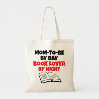 Book Lover Mom-To-Be Tote Bag
