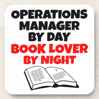 Book Lover Operations Manager Coasters