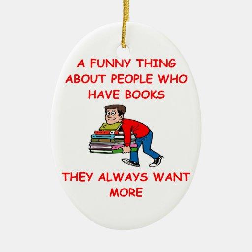 book lover christmas ornament