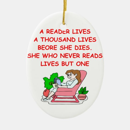 book lover christmas ornaments