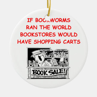 book lover Double-Sided ceramic round christmas ornament
