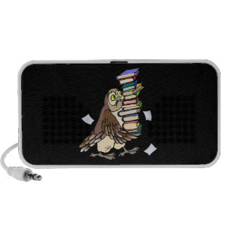 Book Lover Owl Portable Speakers