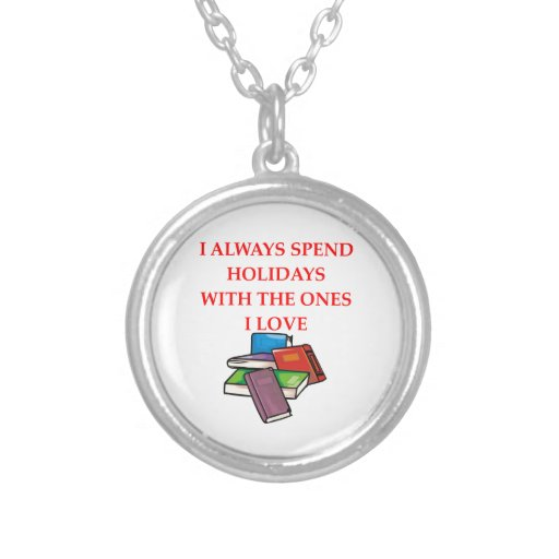 book lover personalized necklace