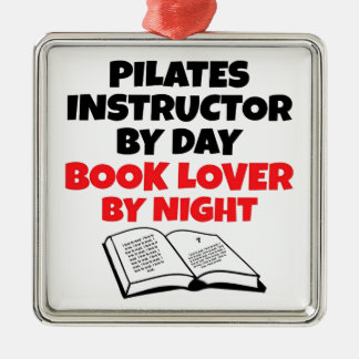 Book Lover Pilates Instructor Metal Ornament