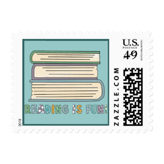 Book Lover postage stamps.