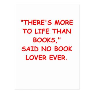 book lover postcards