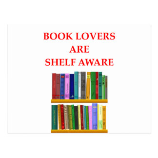 book lover postcard