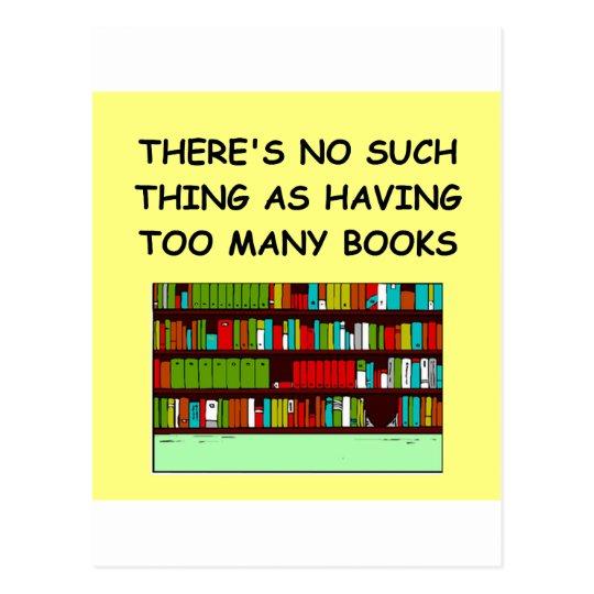 book lover postcard