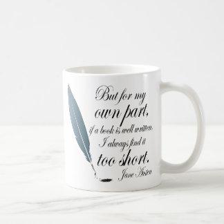 Book Lover Quote Jane Austen Classic White Coffee Mug