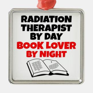 Book Lover Radiation Therapist Metal Ornament