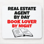 Book Lover Real Estate Agent Mouse Pad