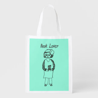 Book Lover Reusable Grocery Bag