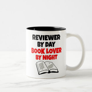 Book Lover Reviewer Two-Tone Coffee Mug