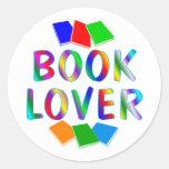 BOOK Lover Round Stickers