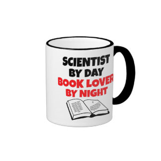 Book Lover Scientist Ringer Mug