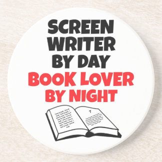 Book Lover Screen Writer Beverage Coasters