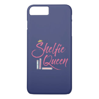 Book Lover Shelfie Queen Blue and Pink iPhone 7 Plus Case