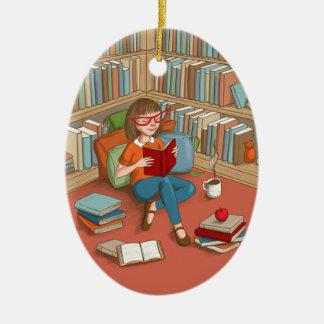 Book Lover Ornaments  Keepsake Ornaments  Zazzle