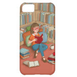 Book Lover sitting with her books iPhone 5C Cover
