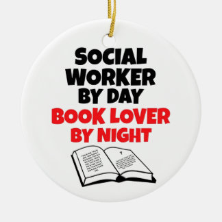 Book Lover Social Worker Ceramic Ornament