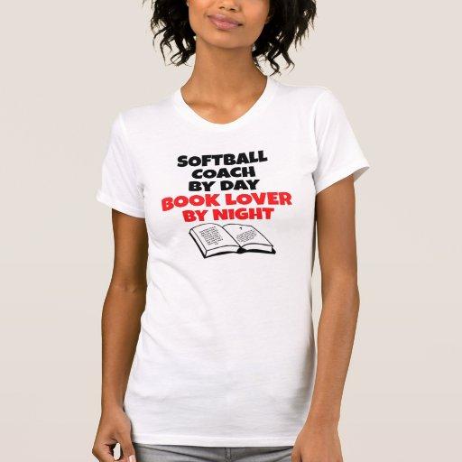 Book Lover Softball Coach Shirts