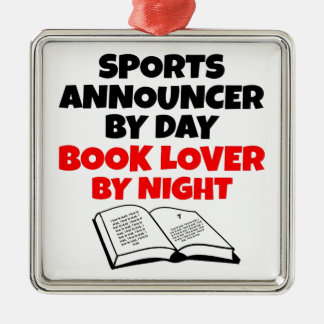 Book Lover Sports Announcer Metal Ornament