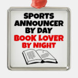 Book Lover Sports Announcer Christmas Tree Ornament