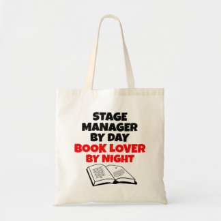 Book Lover Stage Manager Budget Tote Bag